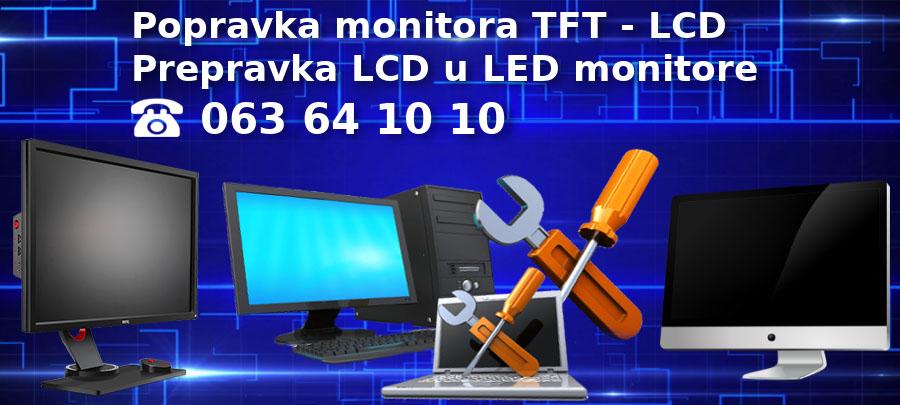 Servis i popravka monitora, LCD, TFT, LED